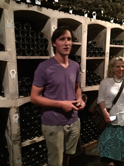Louis Confuron-Meunier in the J-J Confuron cellars