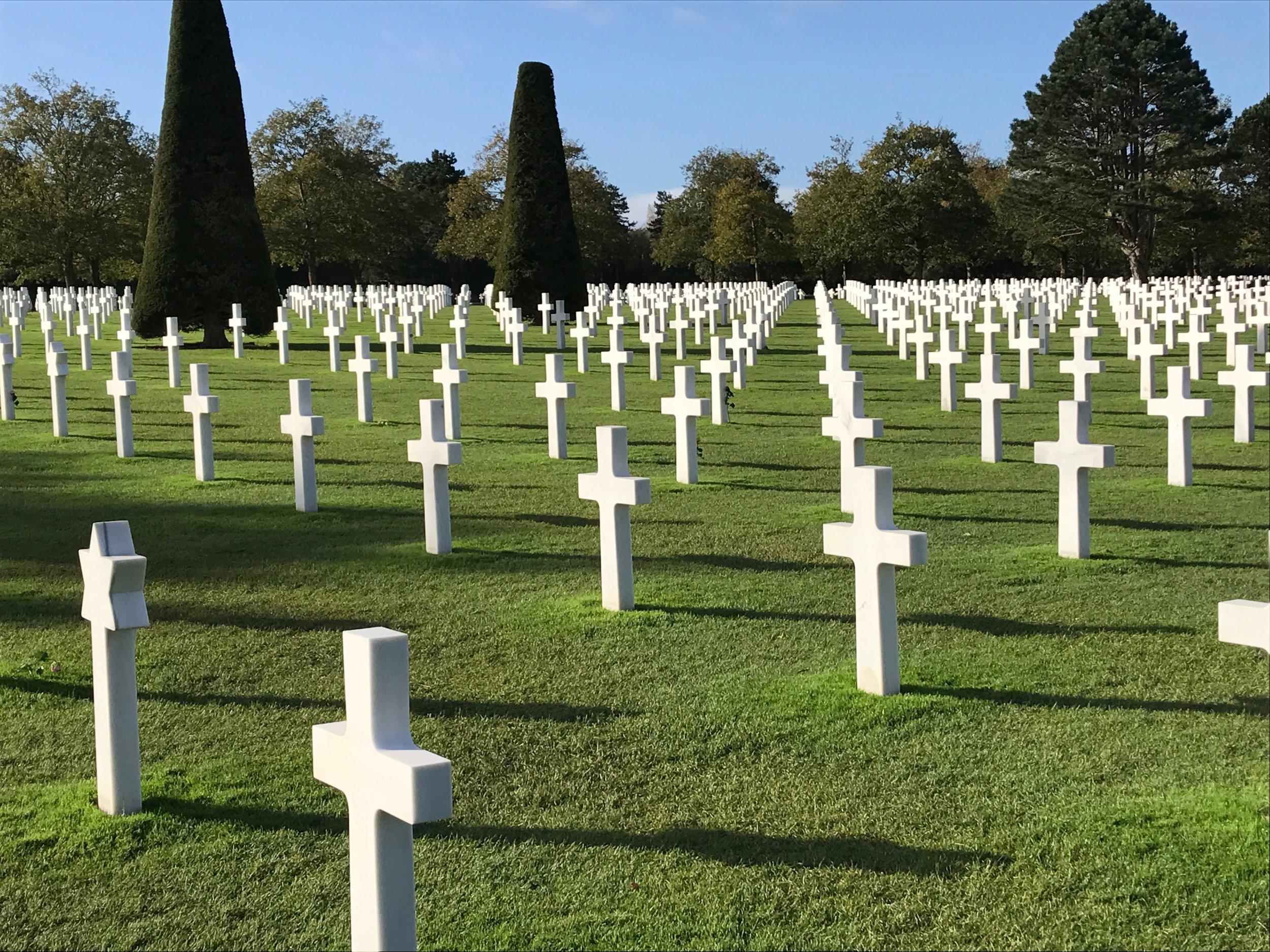 The American Cemetery at Omaha Beach