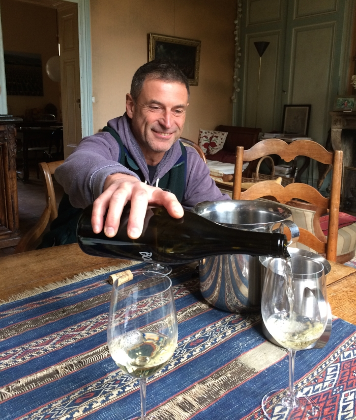 Fabio Momtrasi of Chateau des Rontets in Fuissé, also featured in Scott's soon-to-be-released documentary, Three Days of Glory. Fabio takes precious little vacation but when he did this year, he went to Calais to help feed people stuck there in refugee camps.