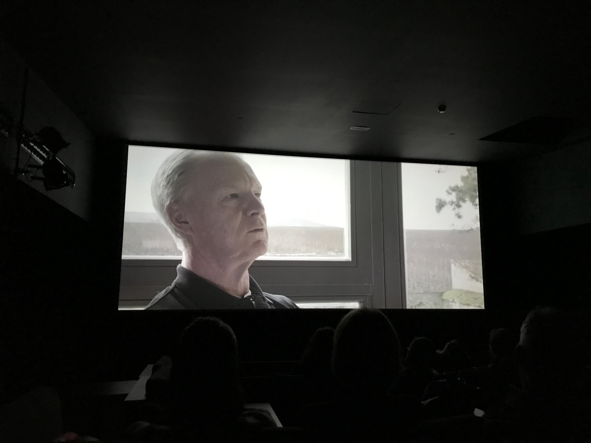 The Burghound, Allen Meadows, on the big screen at our sneak-preview in Beaune