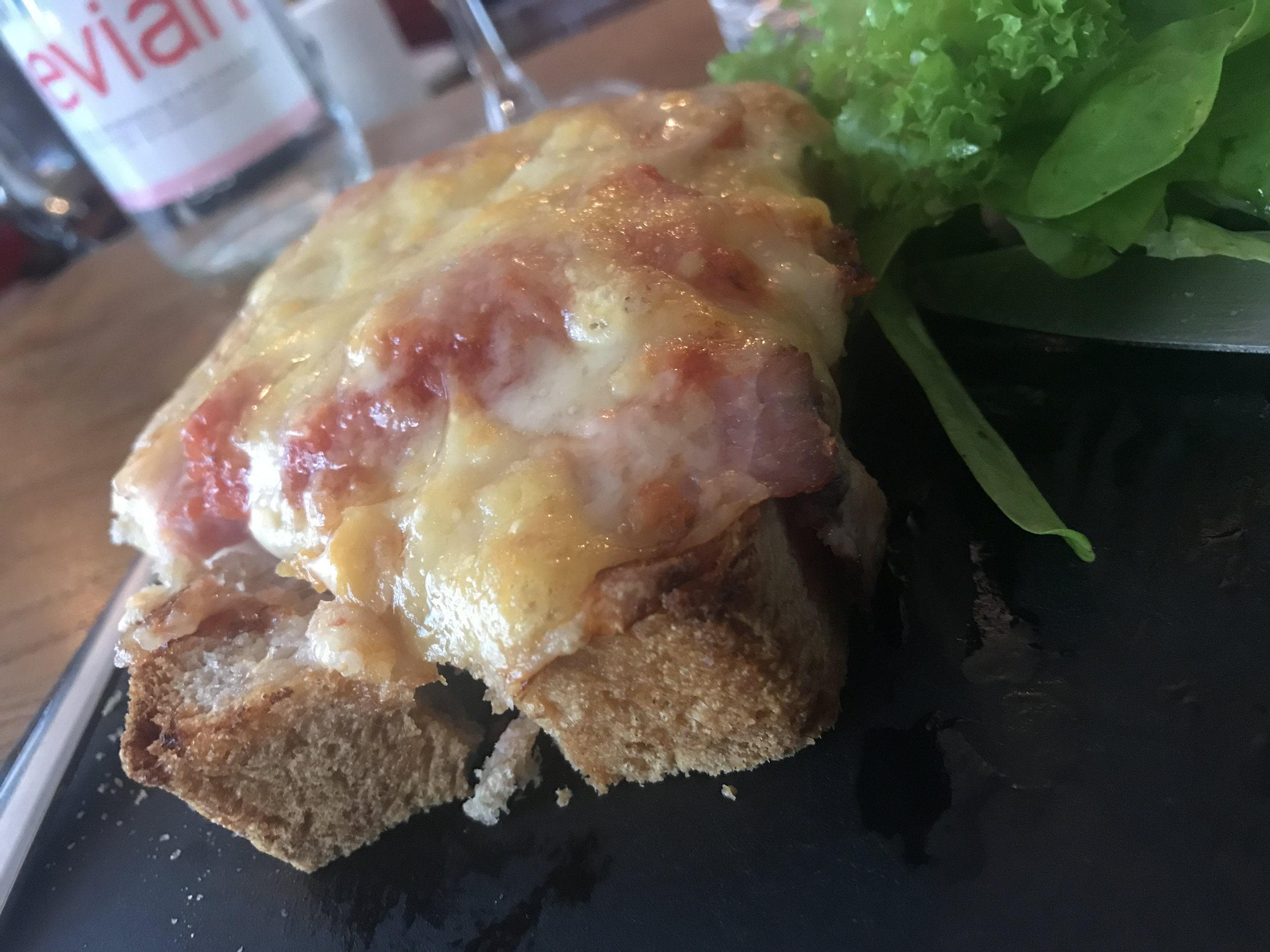 My happy place - the Croque Monsieur at  La Dilletante