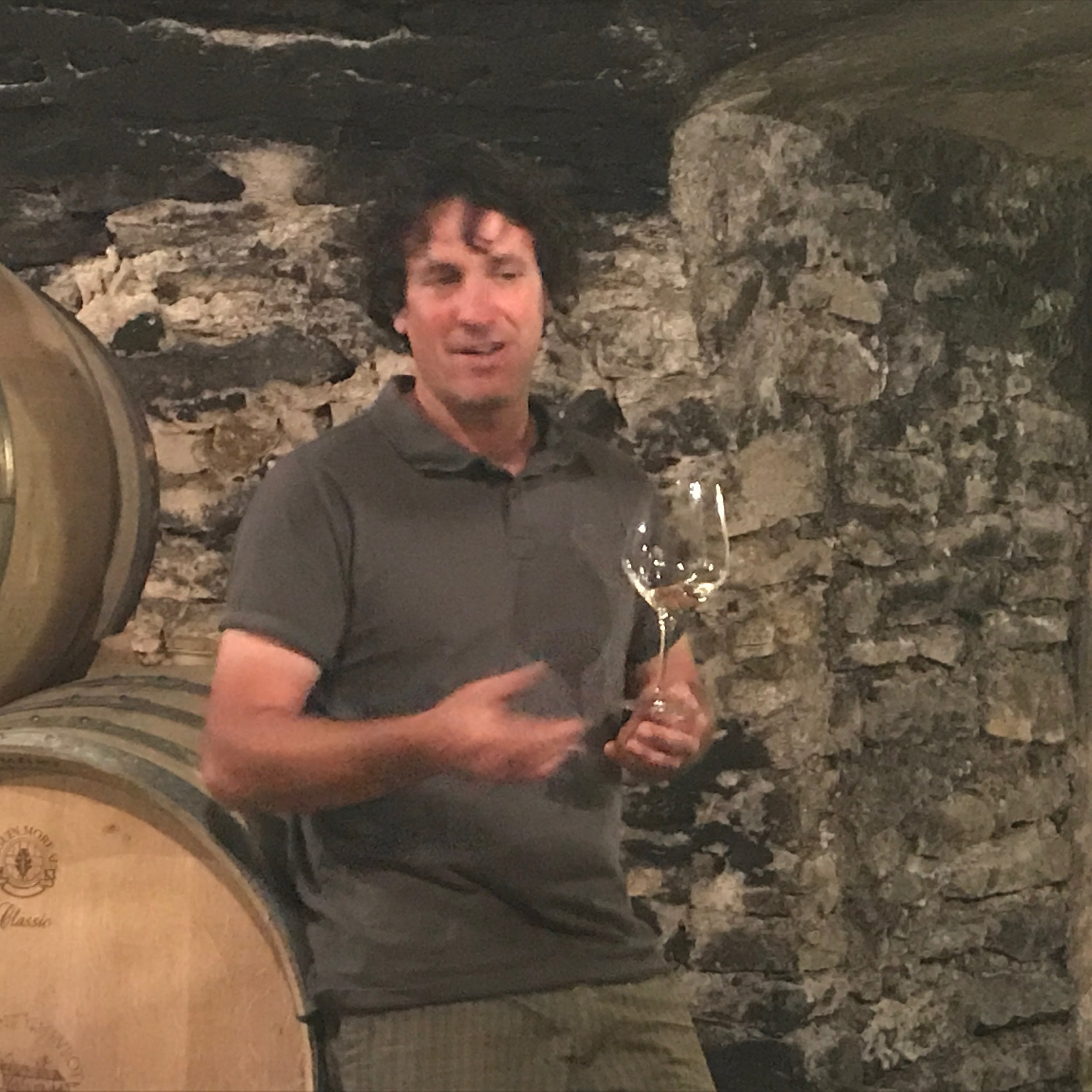 Tasting in the cellar with  Vincent Chevrot  in Santenay