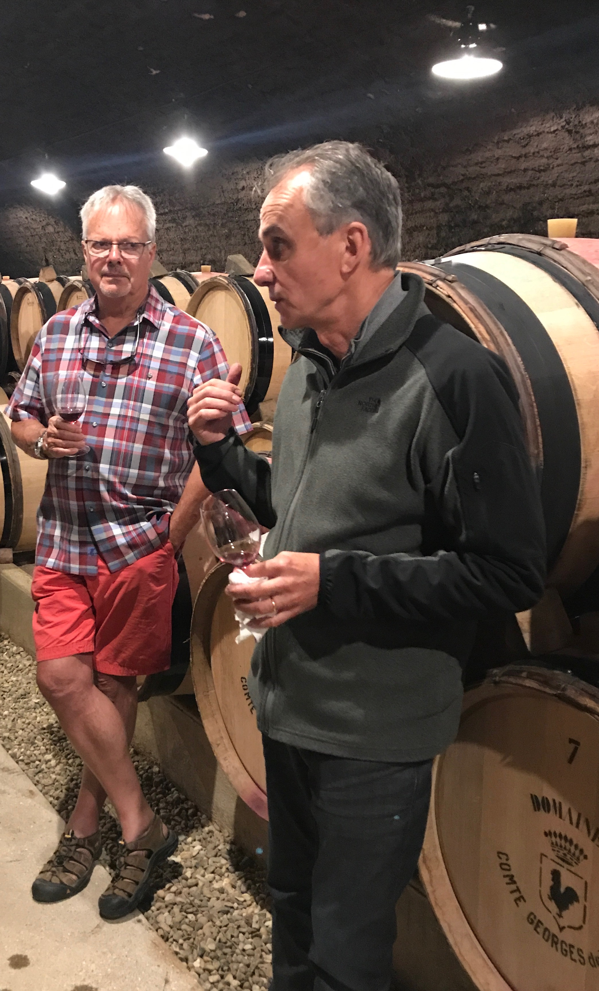Tasting with the maestro himself,  François Millet  at  Domaine de Vogüé  in Chambolle-Musigny