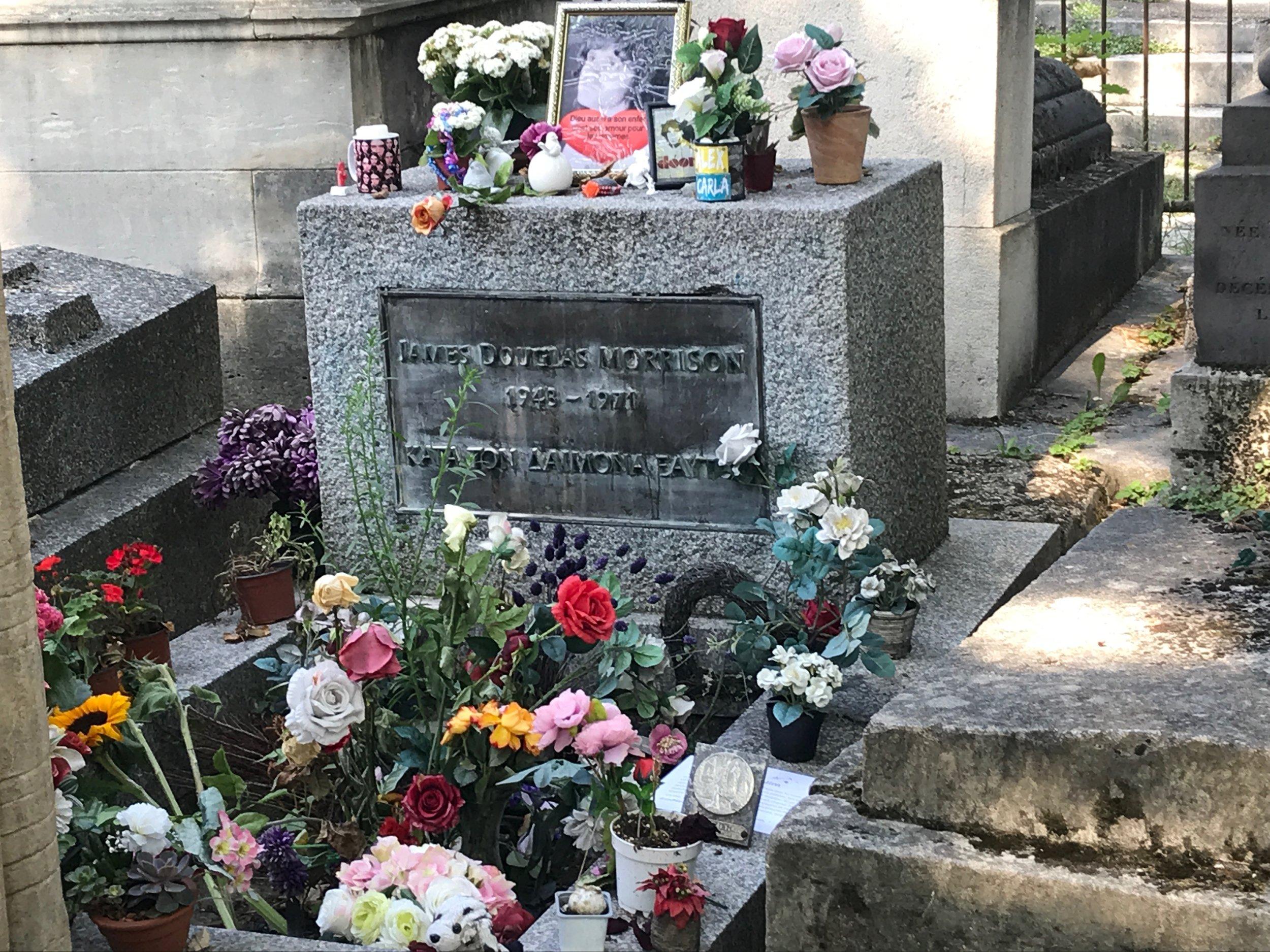 Obligatory visit to Jim Morrison's grave at  Père Lachaise