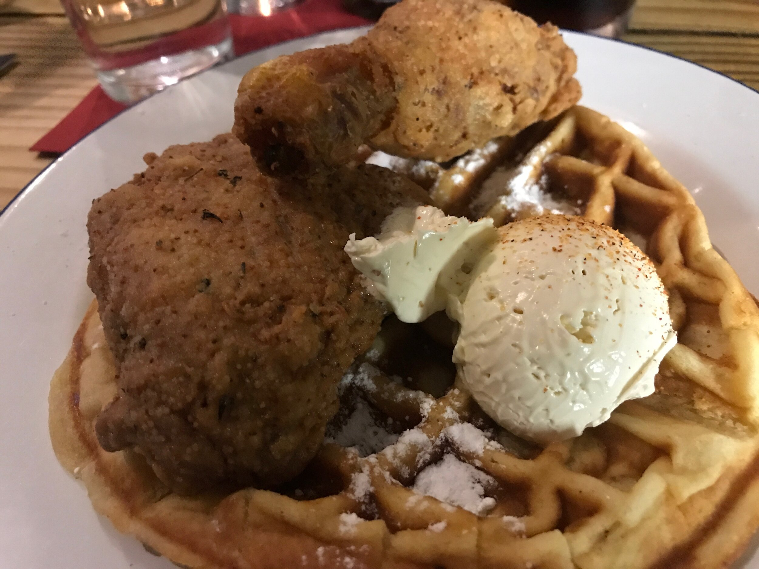 Yes, they do Chicken & Waffles in Paris now.  Gumbo-Yaya  in the 10th - best fried chicken we've ever had anywhere, period!