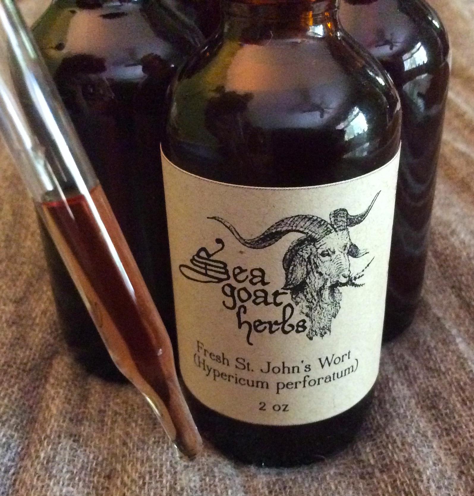 Pressed & strained tincture of St. John's Wort; $24 per 2oz bottle
