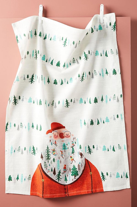 Santa Tea Towel by Anthropologie