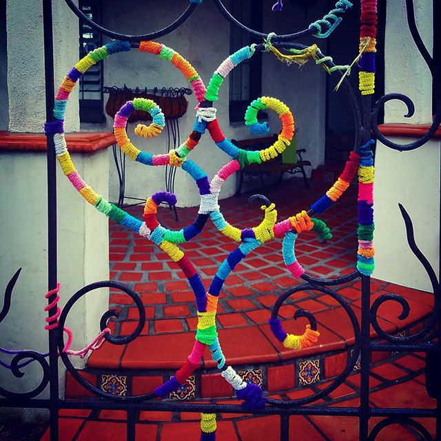 Love is everywhere. In this case,  a sweet gate in Beverly Hills.