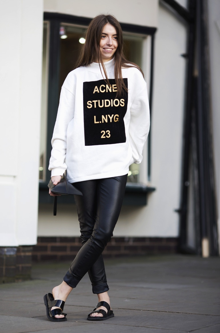 Acne sweater outfit