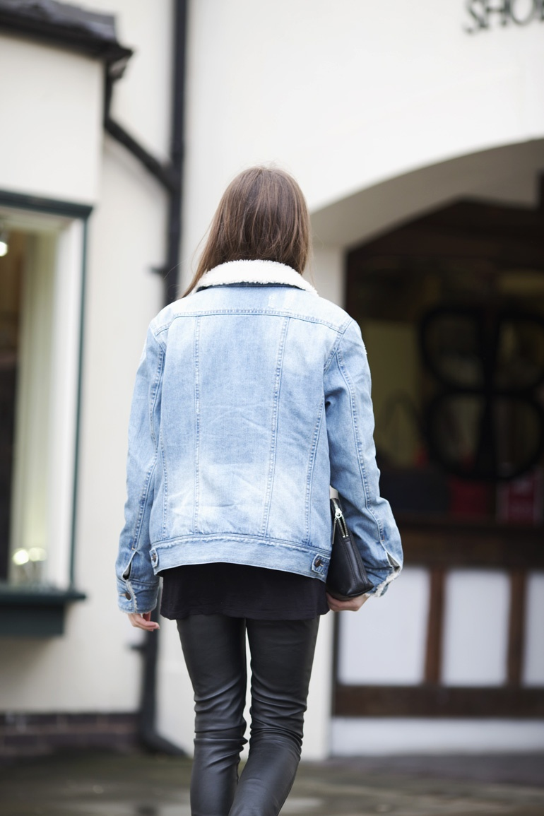 Warehouse denim jacket outfit