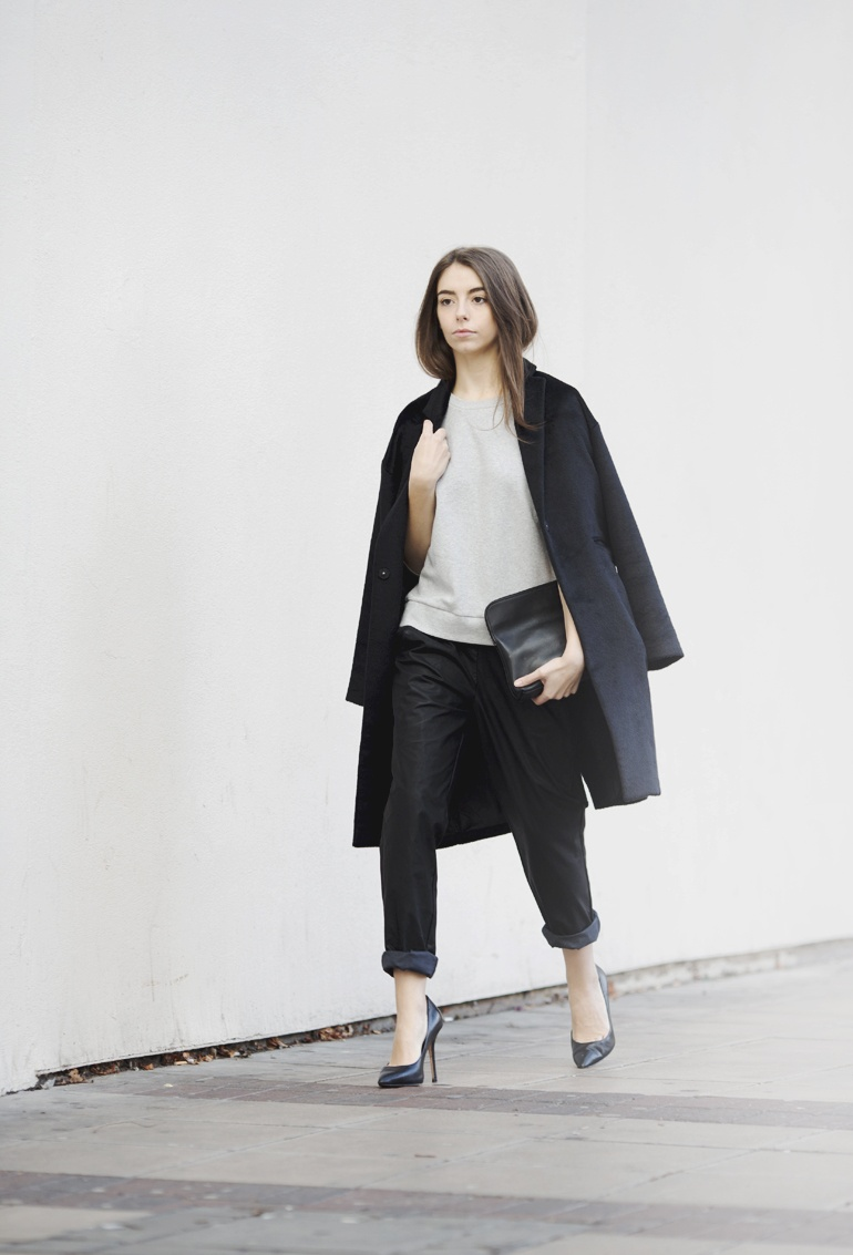 Black grey outfit