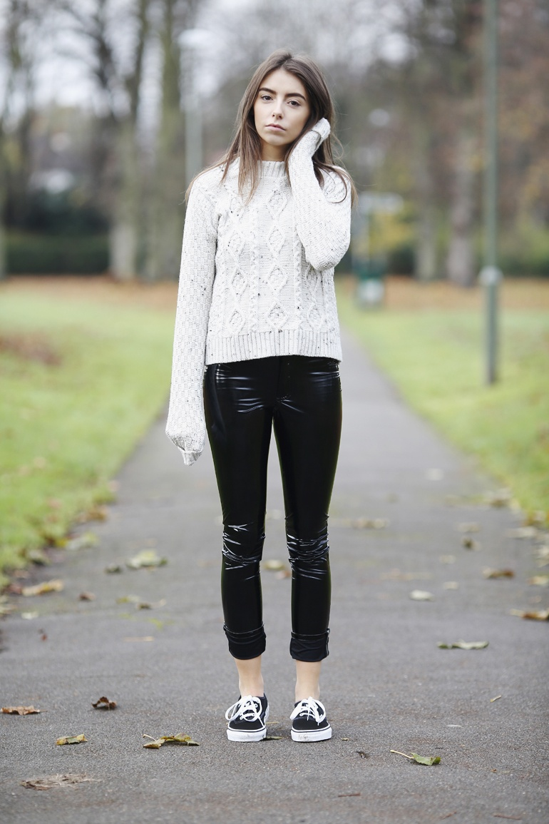 PVC trousers outfit