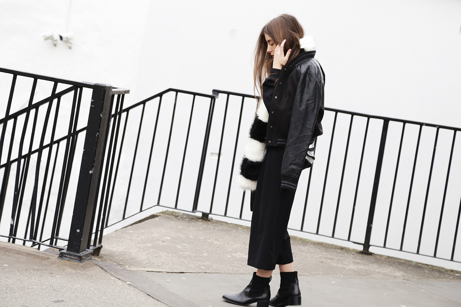 Cocochic Outfit OOTD Culottes Fur Stole