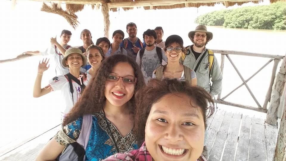 Rory (back right)with his Clubes de Ciencia, Mexico class at Celestun Biosphere Reserve in Yucatan, MX
