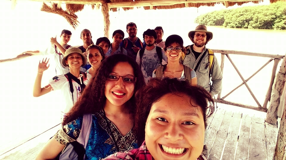 Rory (back right) with his Clubes de Ciencia, Mexico class at Celestun Biosphere Reserve in Yucatan, MX