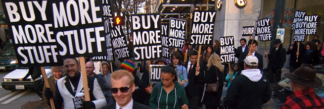 Buy More Stuff, Black Friday 2009 by Michael Holden, on Flickr