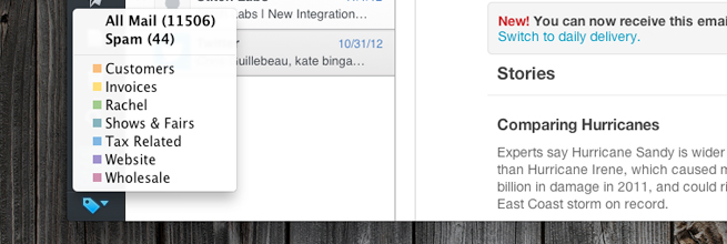 Seamless Gmail integration with Sparrow Mail App for Mac