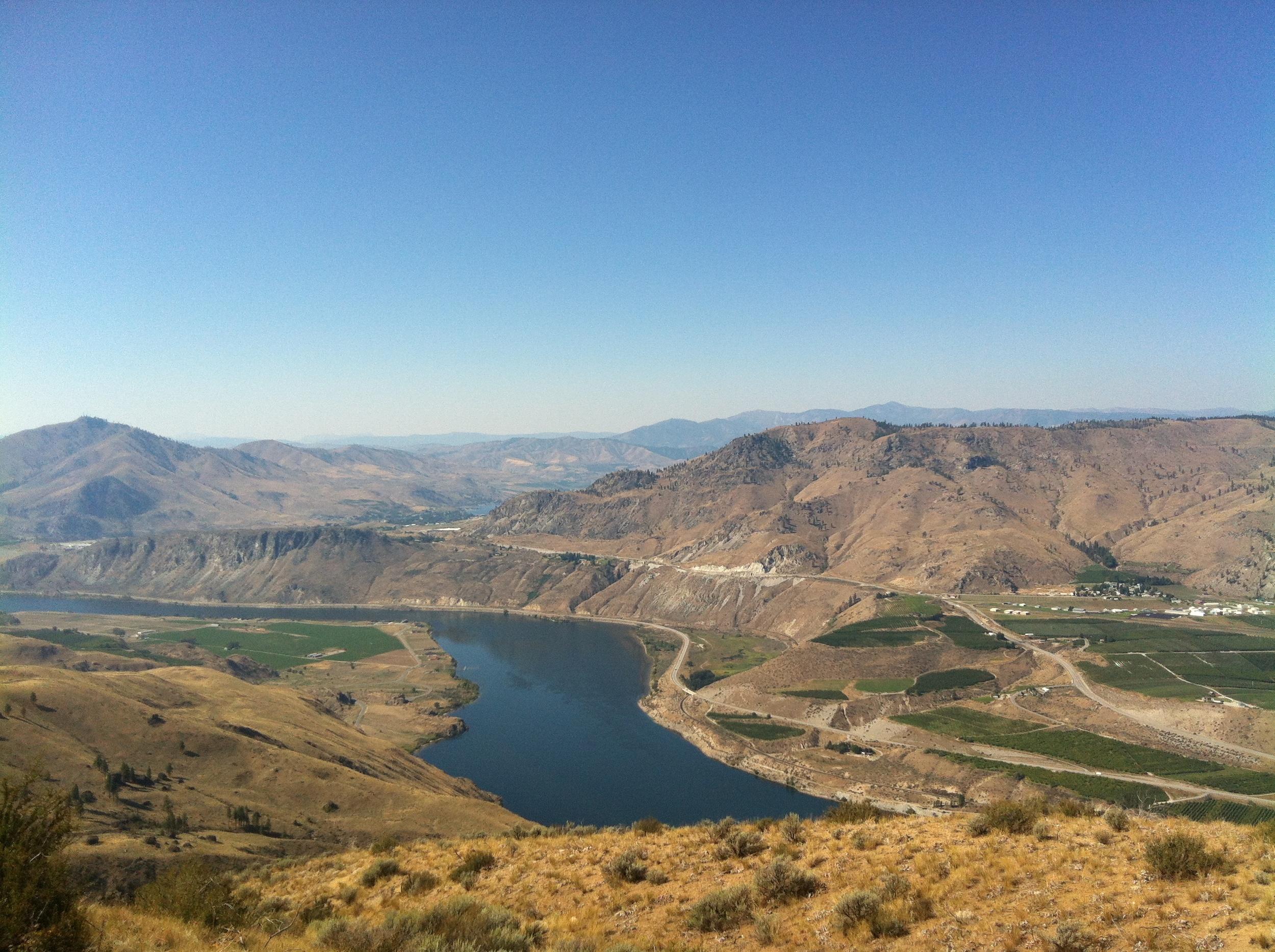 The main view westward.