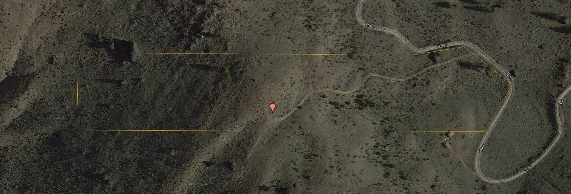 Birds-eye view of the area and the property. View the interactive Google Map .