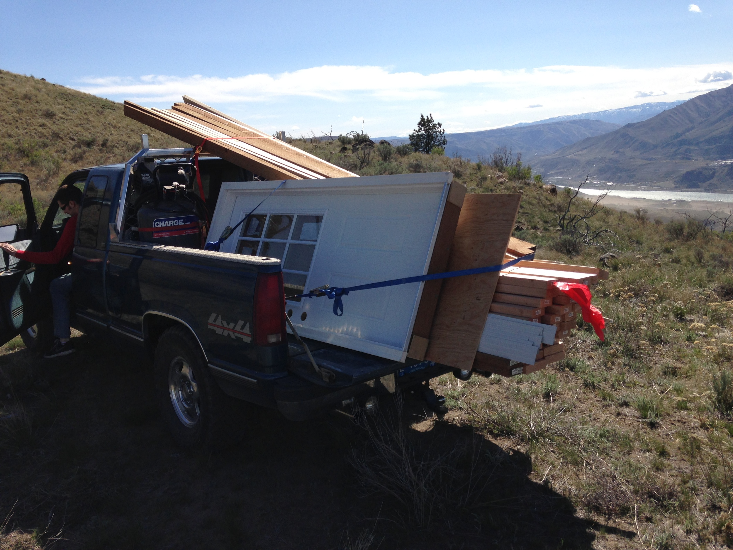 Alex's truck hauled all the lumber and materials.