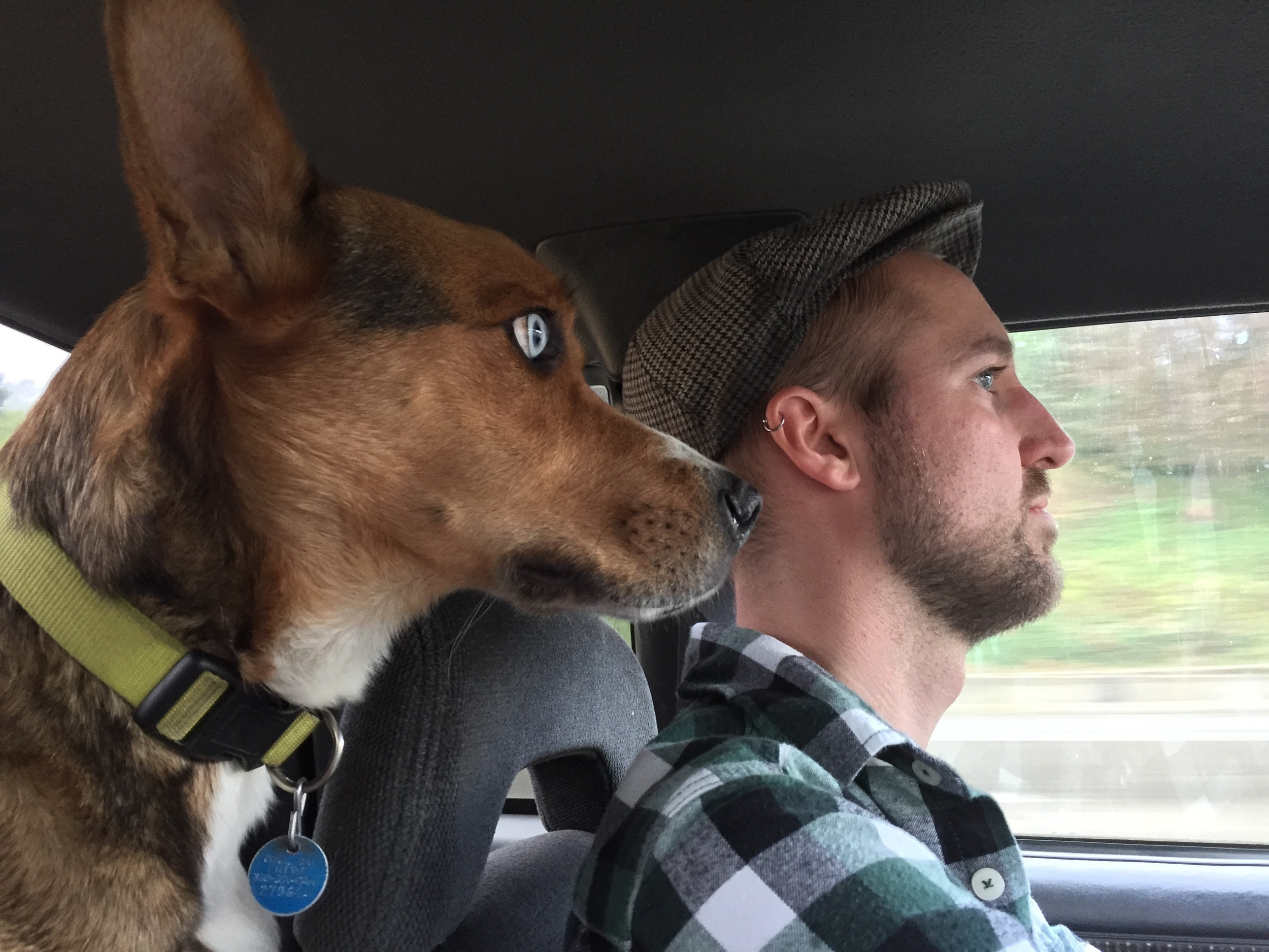 Eyes on the road.