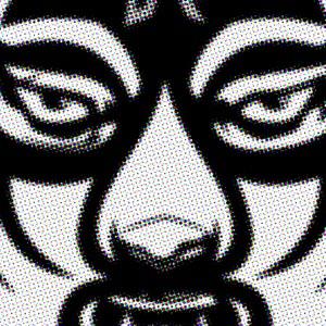 Mask VII  Aerosol on Canvas