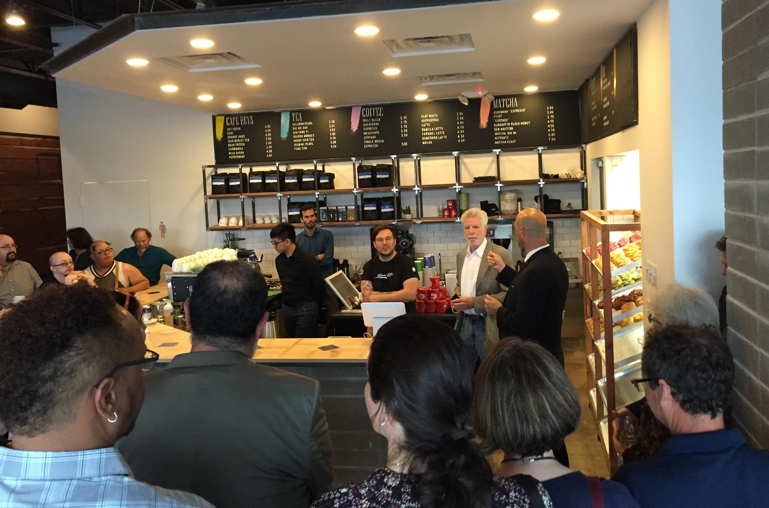 Houston's architecture community gathered tonight at Morningside Cafe honoring John's life
