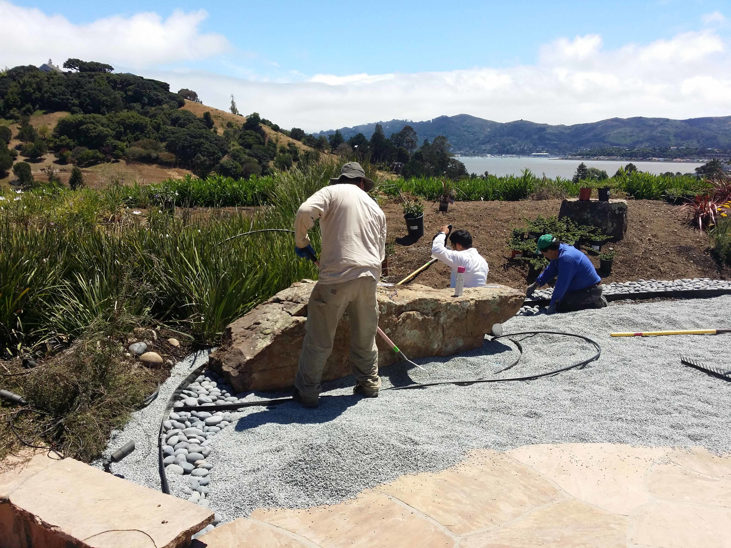 Mystical Landscapes is a Marin based design and installation company that assists clients with all their landscape and site development needs including driveways, lighting, decks, play structures and retaining walls.