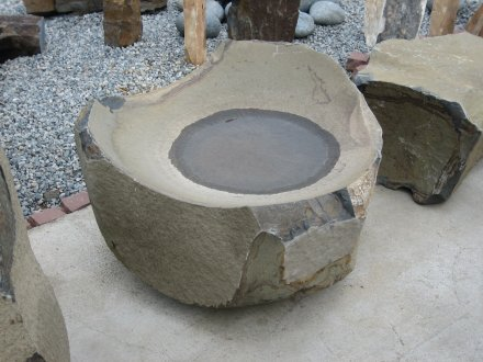 Basalt Bird Baths - Marin landscape architect