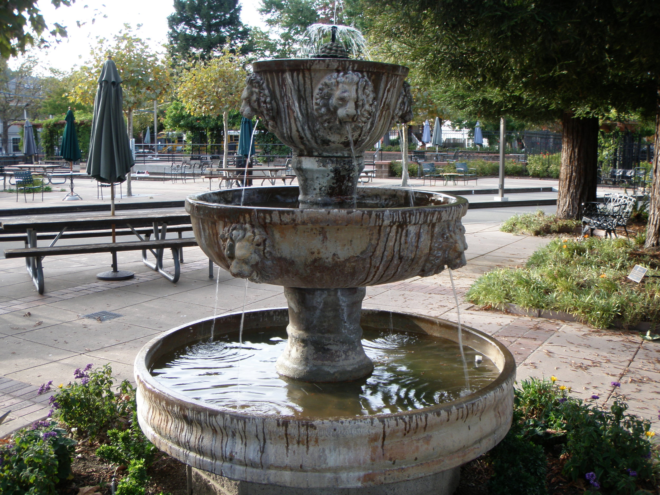 Italian Fountain - Marin Landscape Architect