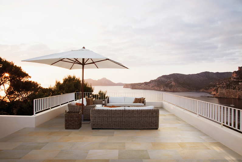 Pangea Giallo - Marin Landscape Contractor