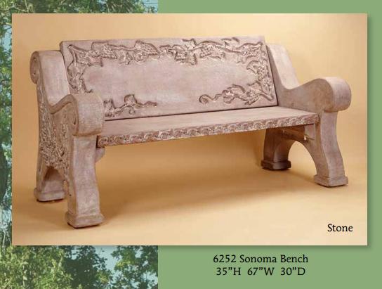 Sonoma Bench - San Rafael Landscape Architect