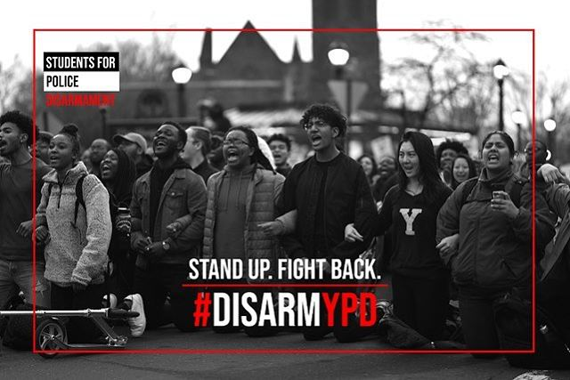 We stand in solidarity with the New Haven community and Black Students for Disarmament at Yale in opposing systematic police brutality inflicted on Black lives, including the shooting of Stephanie Washington. We refuse to comply with the abuse of power perpetrated by an armed Yale Police Force. We demand #JusticeForStephanieandPaul and that Yale #DisarmYPD.  pc: Sydney Holmes