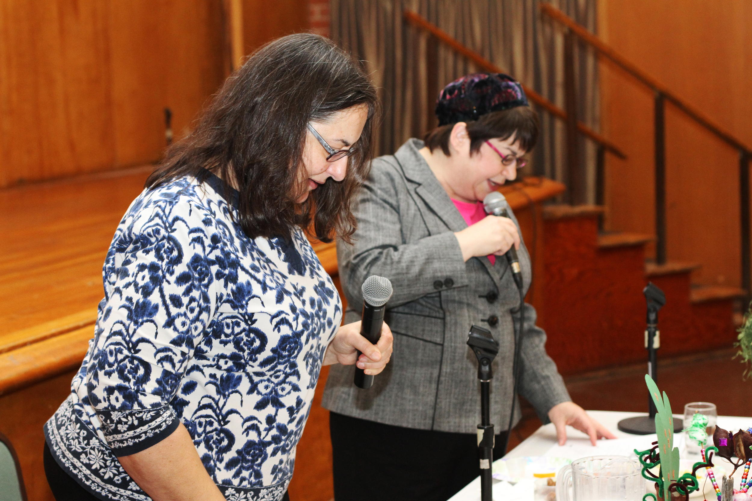 Clergy leading the service at Temple Emanu-El.