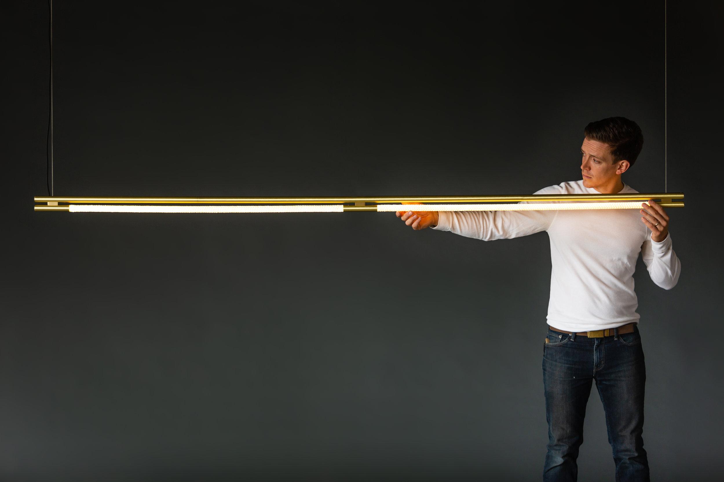 8' Leto Suspension (pictured in Satin Brass)