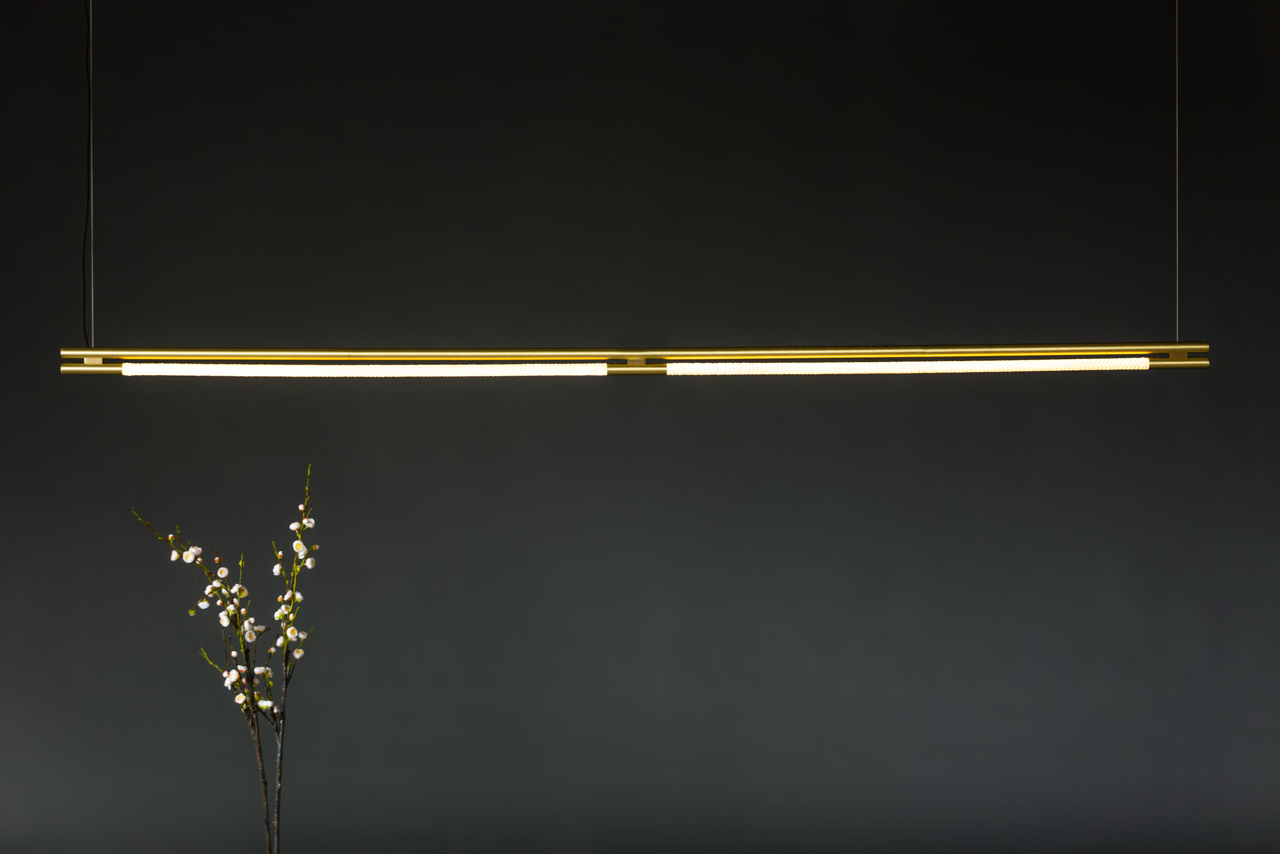8' Leto Suspension - Cable  (pictured in Satin Brass)