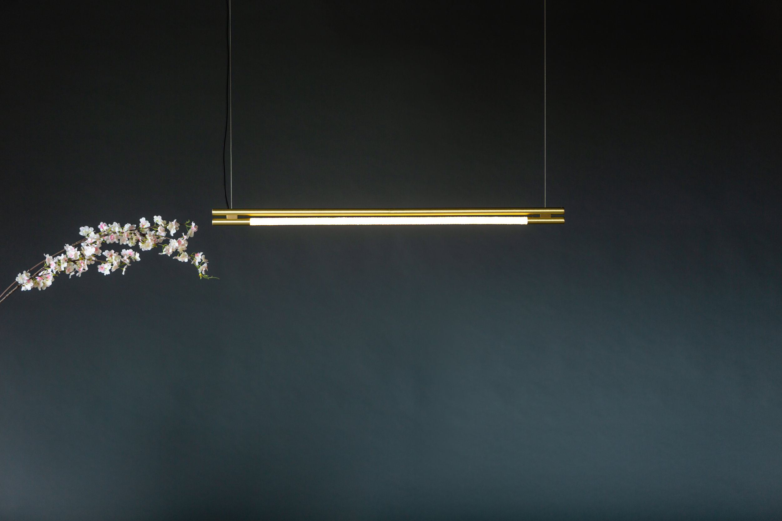 4' Leto Suspension - Cable  (pictured in Satin Brass)