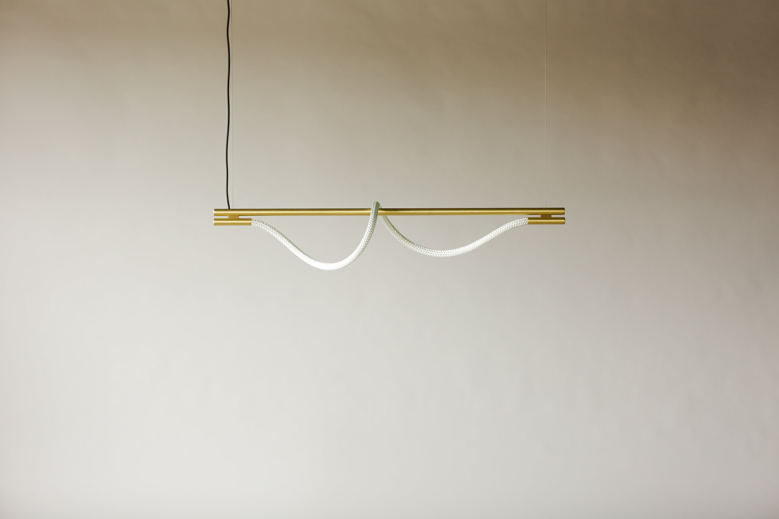 4' Surrey Suspension I - Cable  (pictured in Satin Brass / turned off)