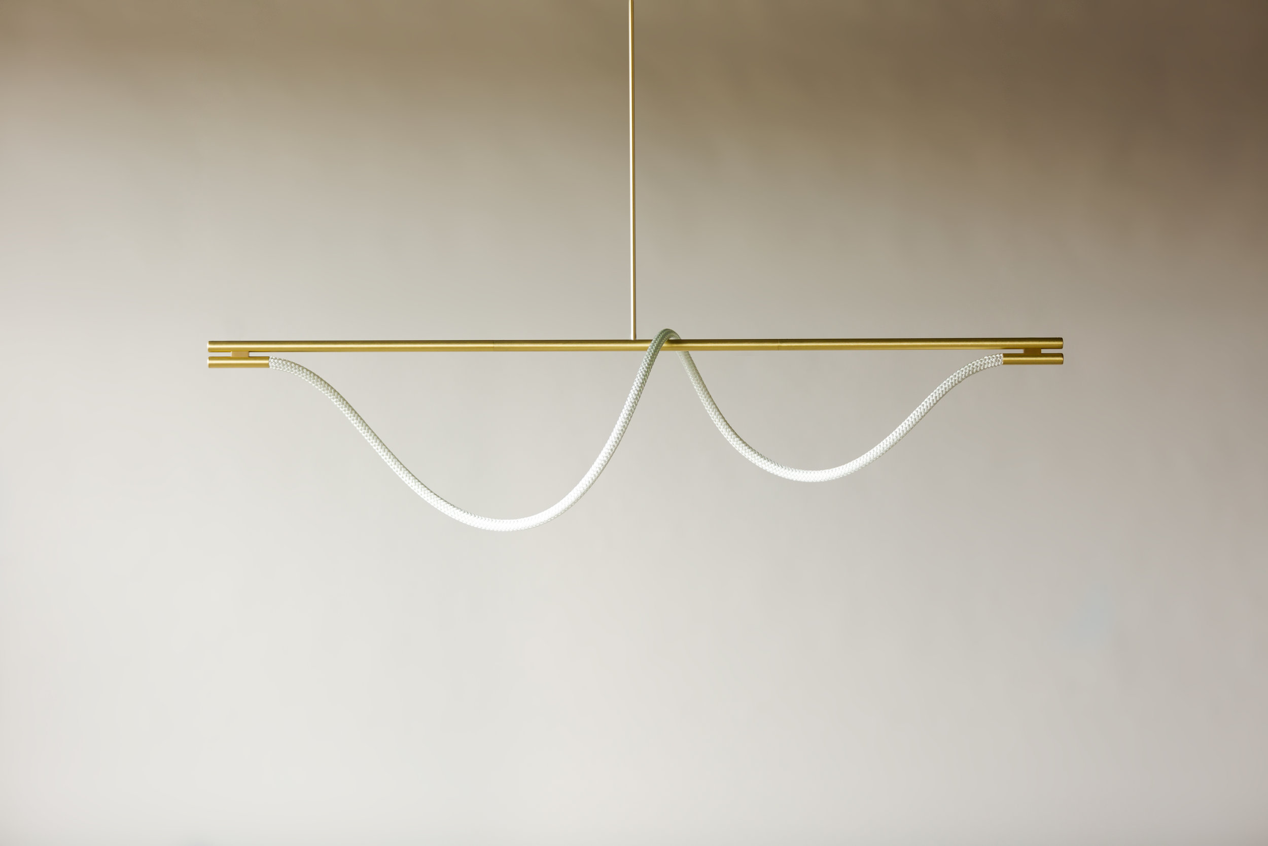 6' Surrey Suspension II - Rod  (pictured in Satin Brass / turned off)