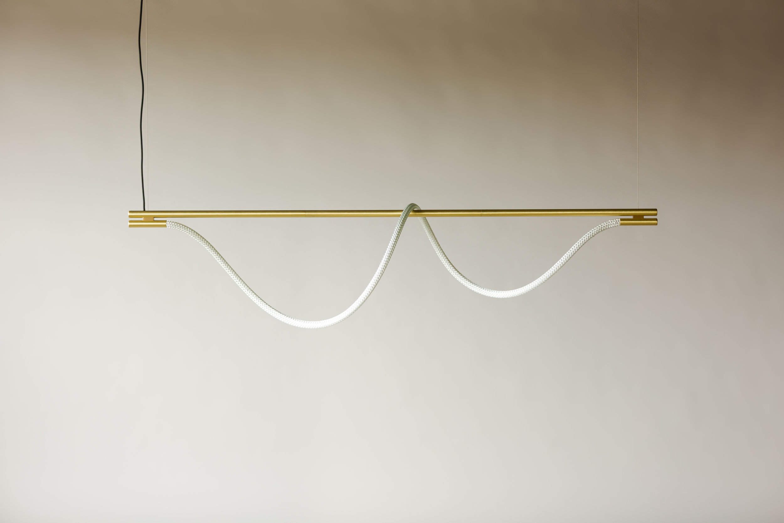 6' Surrey Suspension II - Cable  (pictured in Satin Brass / turned off)