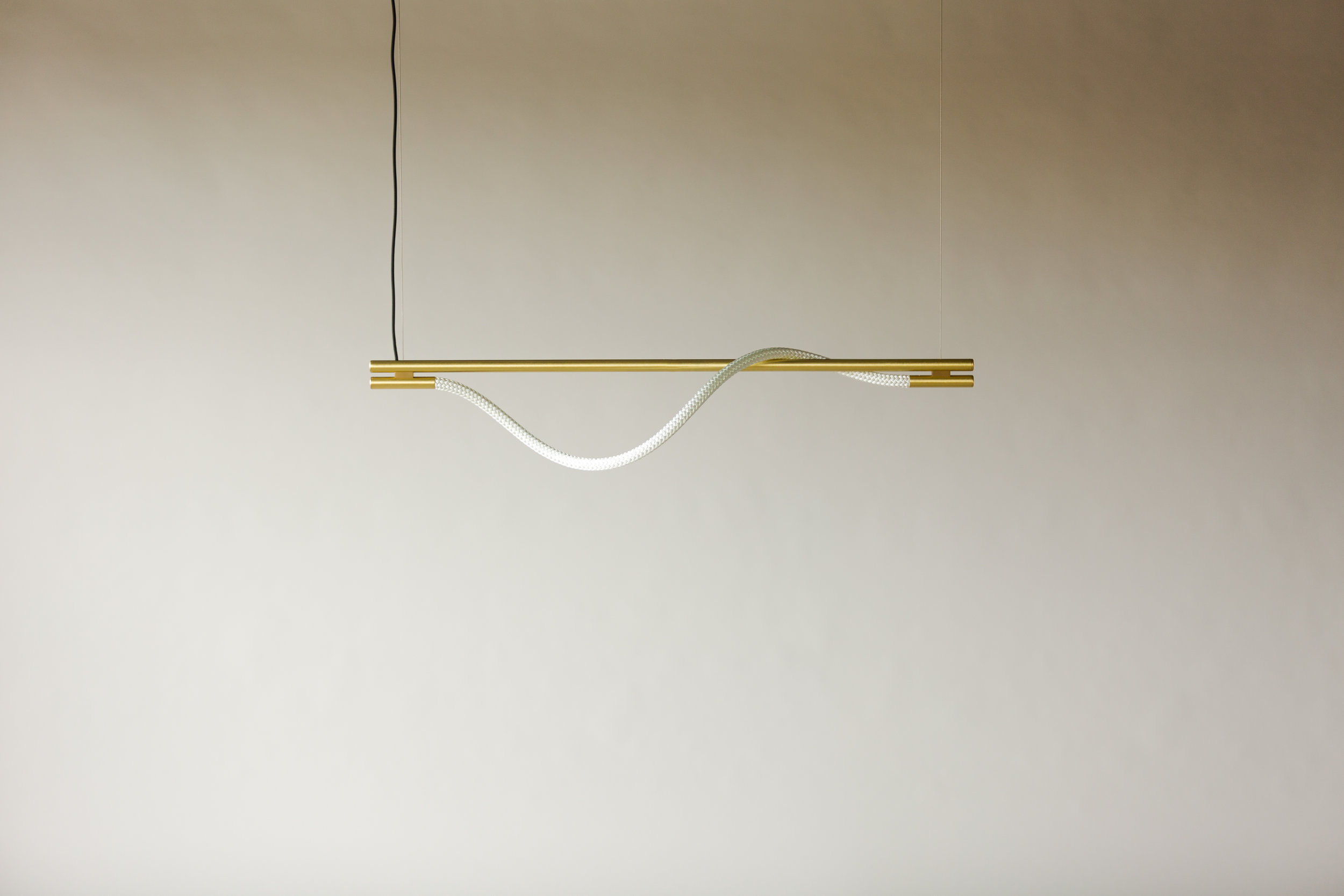 4' Surrey Suspension II - Cable  (pictured in Satin Brass / turned off)