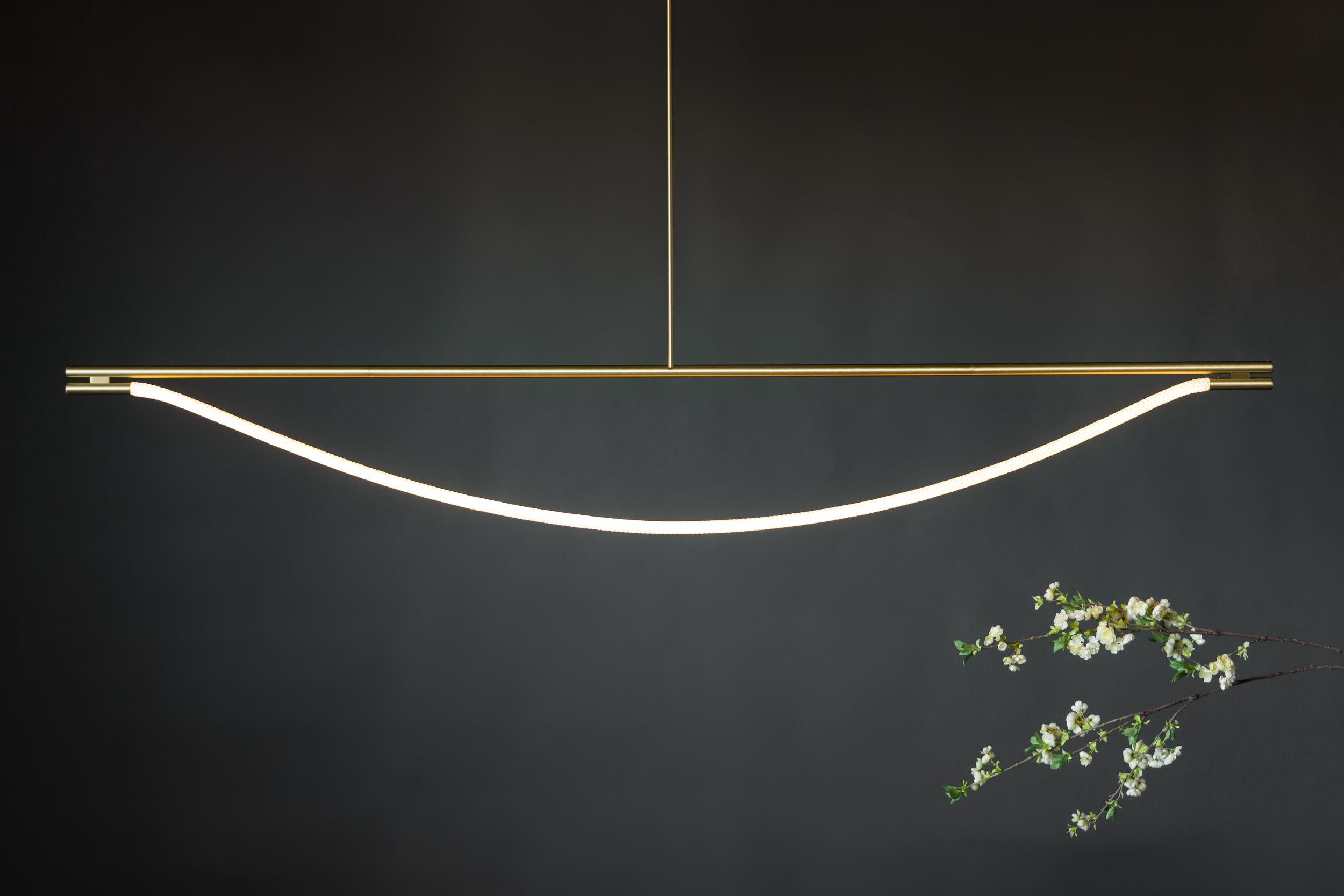8' Artemis Suspension I - Rod  (pictured in Satin Brass)