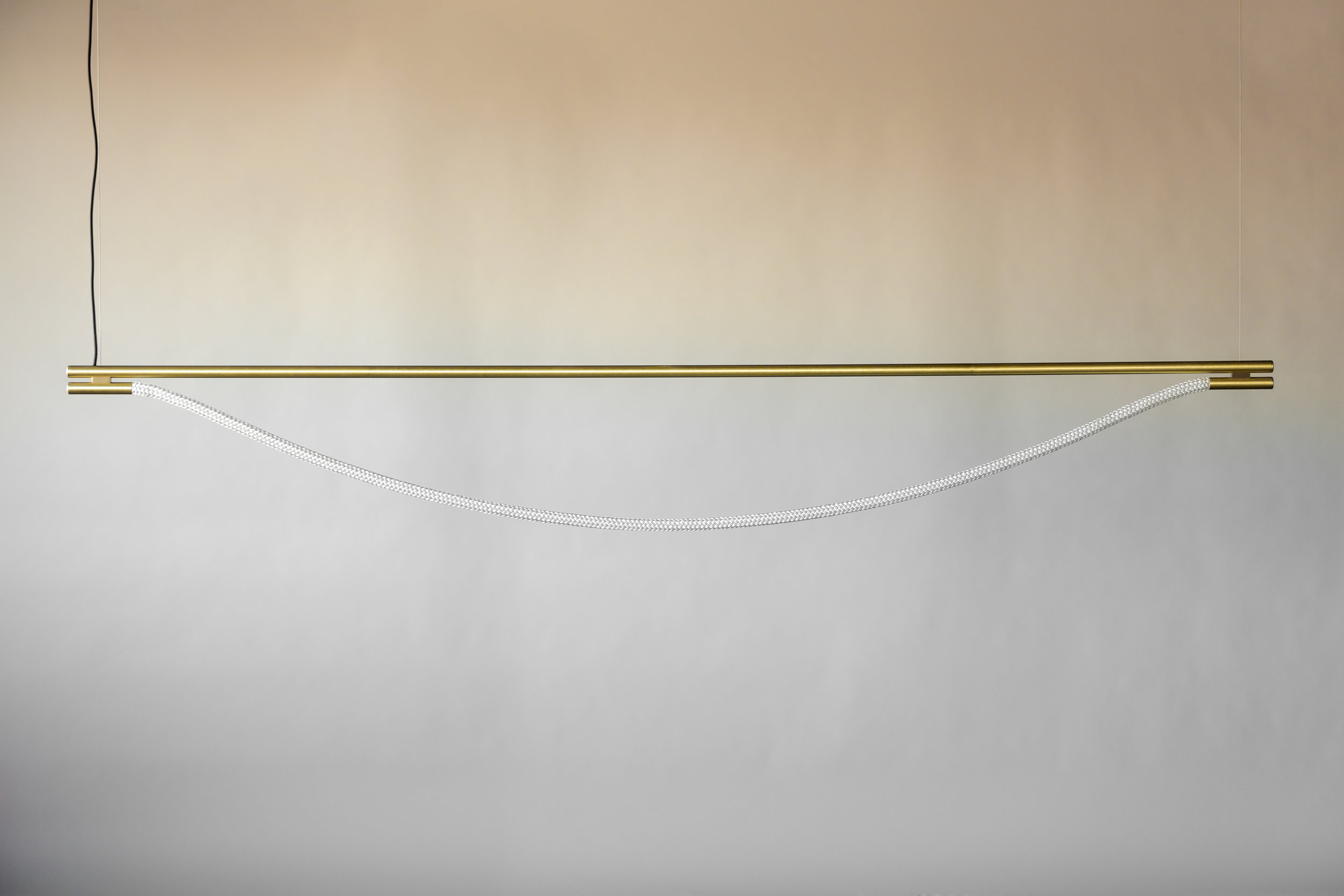 8' Artemis Suspension I - Cable  (pictured in Satin Brass / turned off)