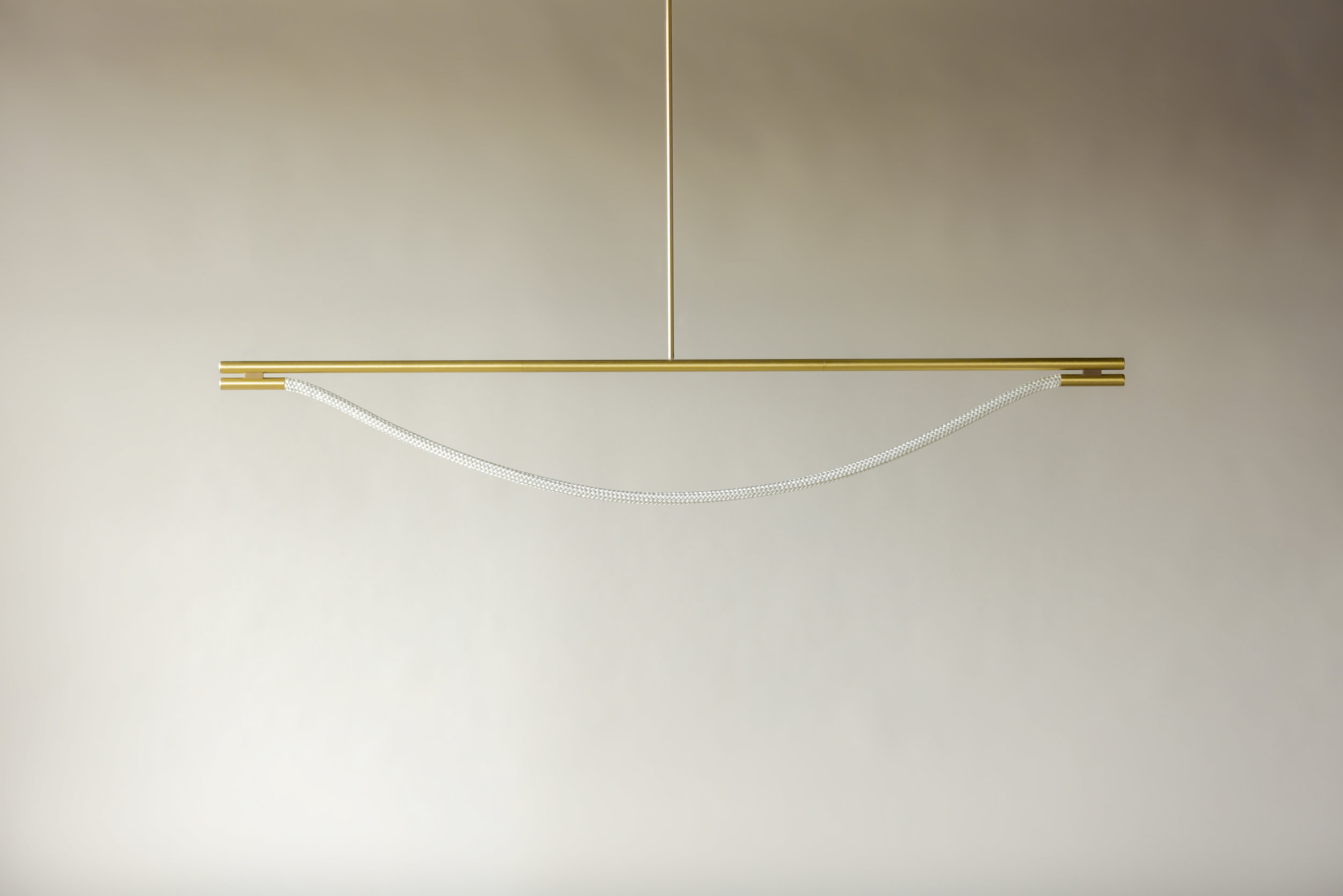 6' Artemis Suspension I - Rod  (pictured in Satin Brass / turned off)