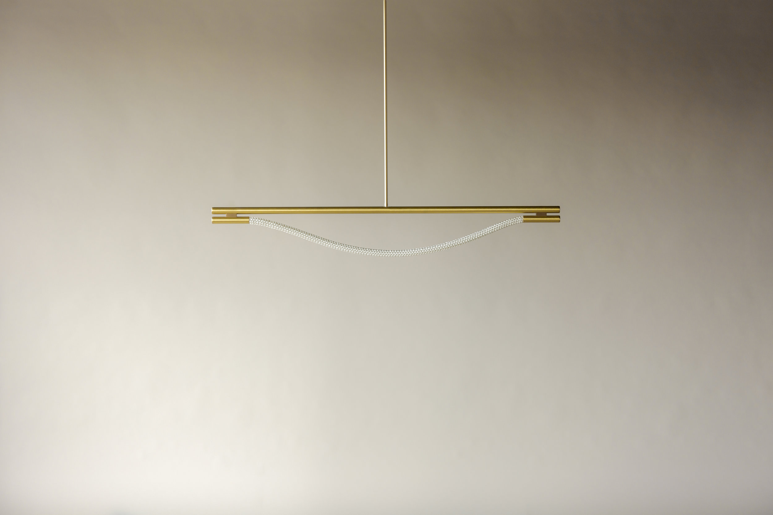 4' Artemis Suspension I - Rod  (pictured in Satin Brass / turned off)