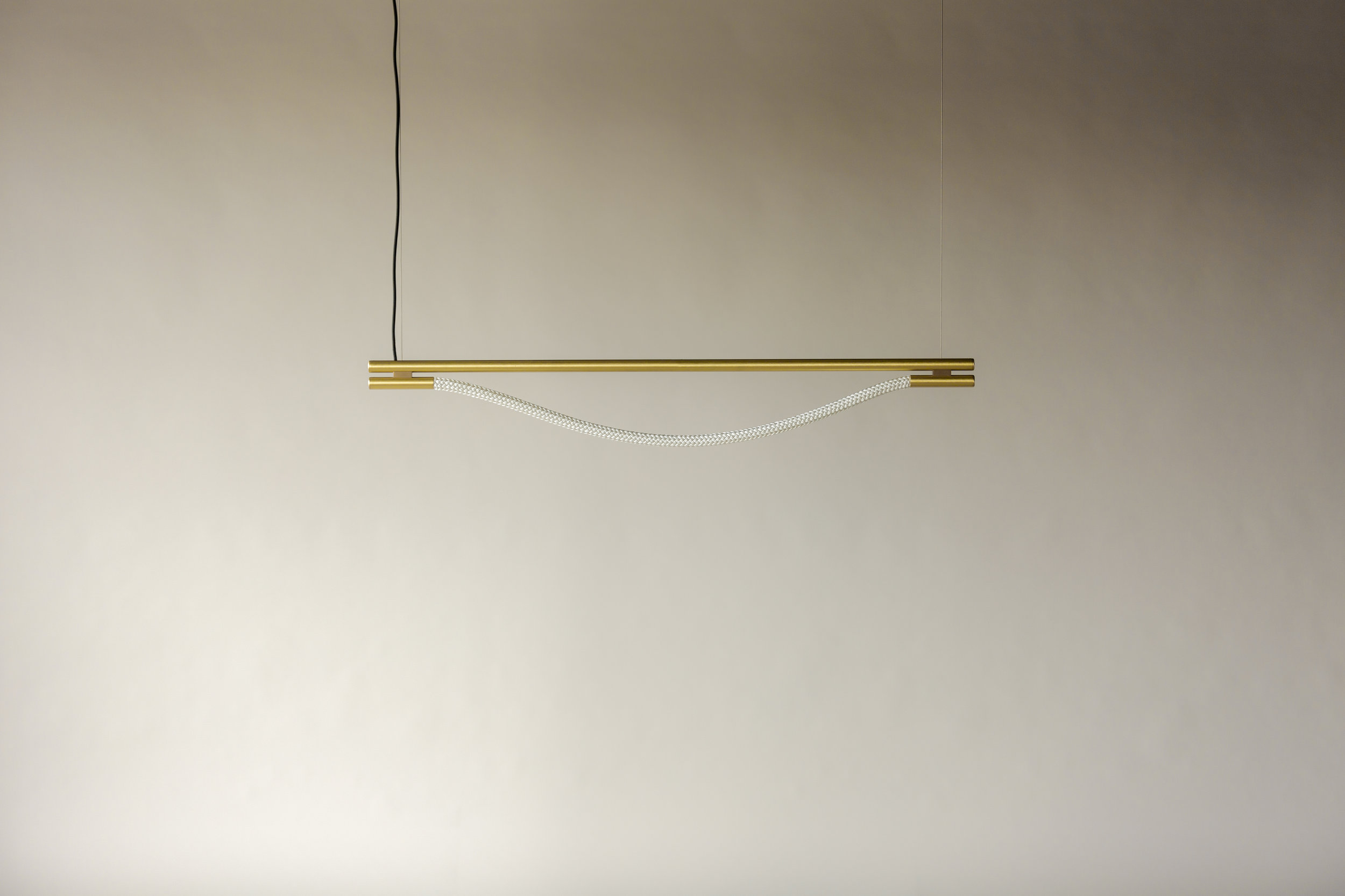 4' Artemis Suspension I - Cable  (pictured in Satin Brass / turned off)