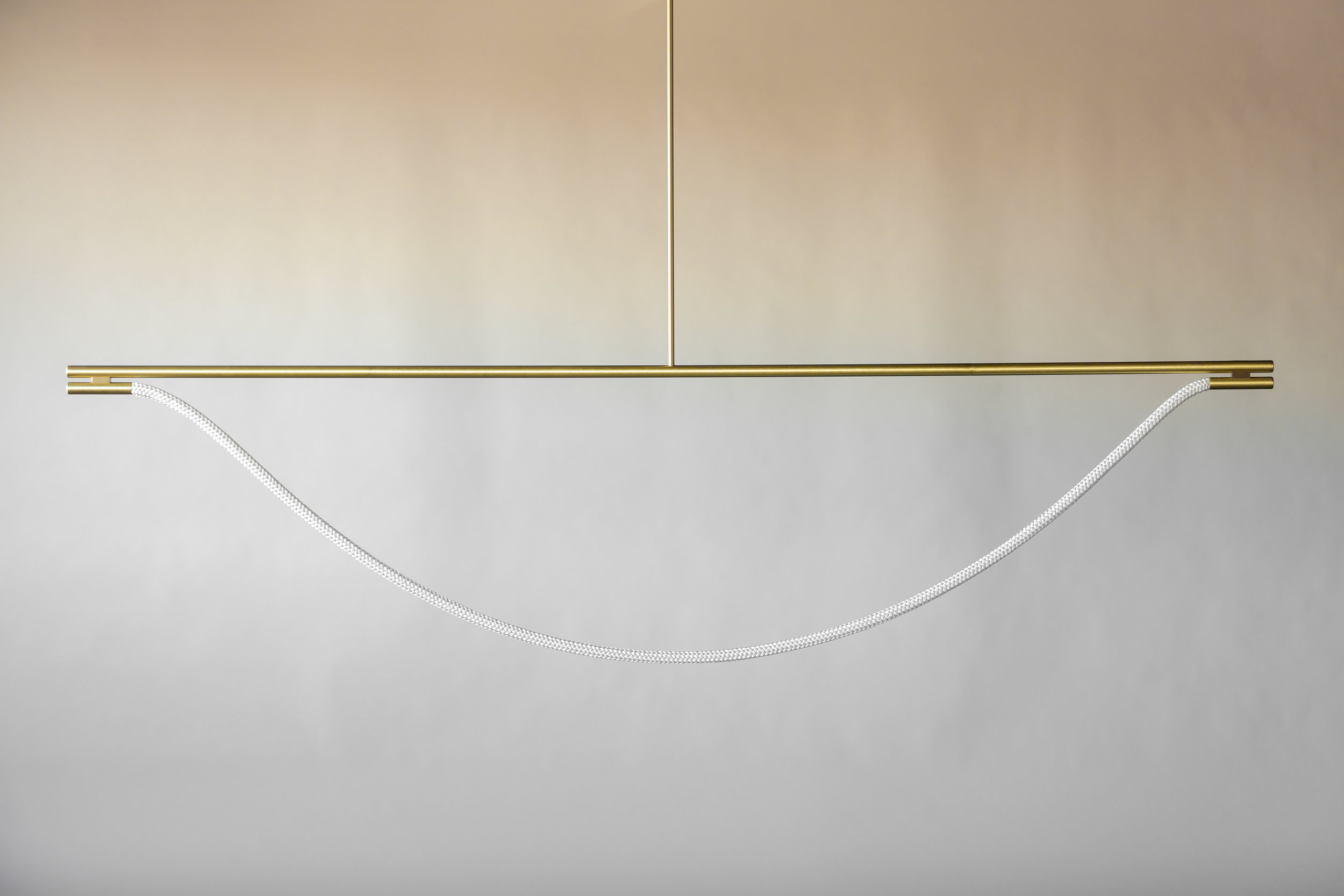 8' Artemis Suspension II - Rod  (pictured in Satin Brass / turned off)