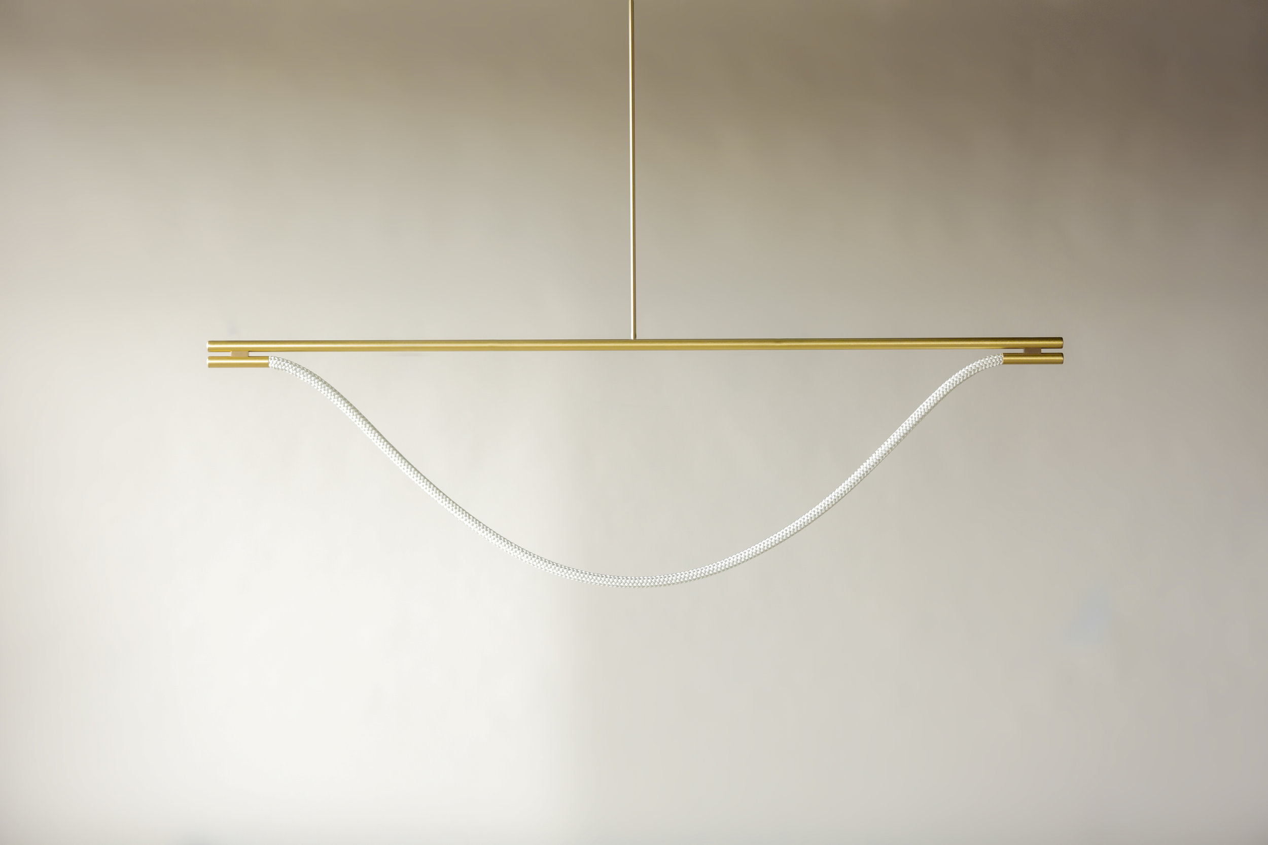 6' Artemis Suspension II - Rod  (pictured in Satin Brass / turned off)