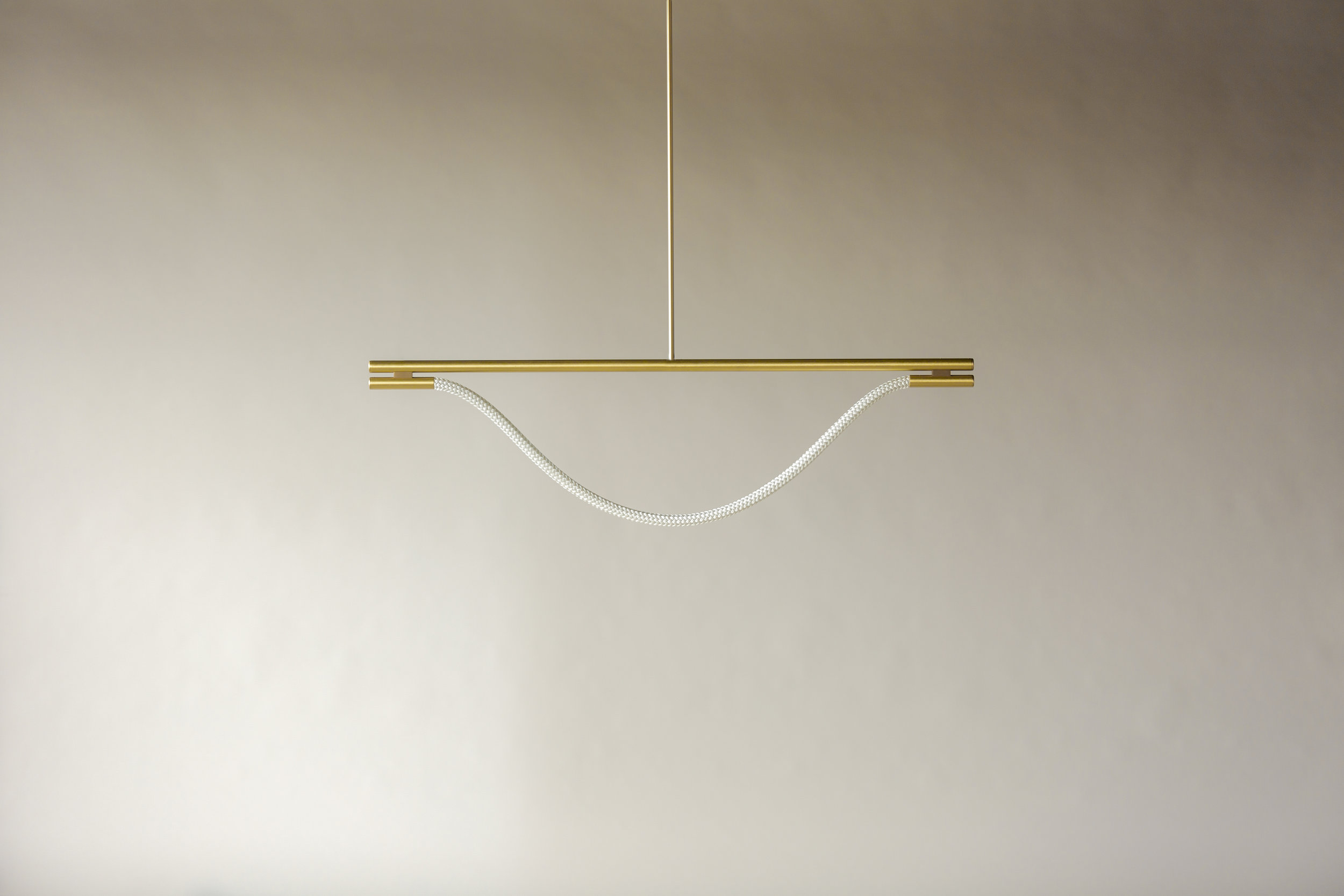 4' Artemis Suspension II - Rod  (pictured in Satin Brass / turned off)