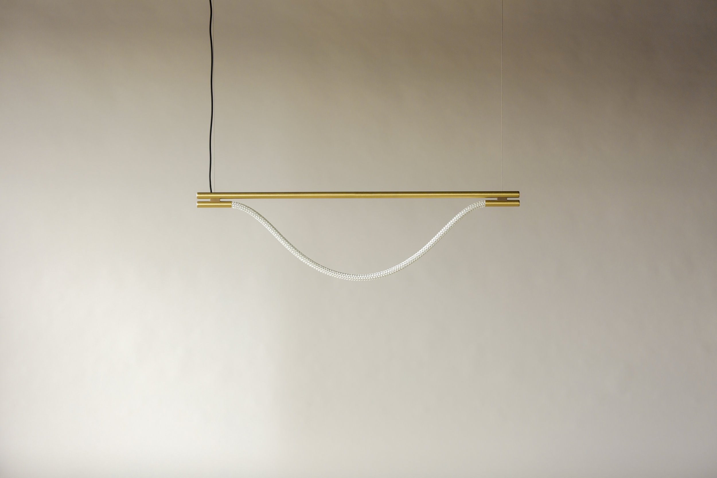 4' Artemis Suspension II - Cable  (pictured in Satin Brass / turned off)